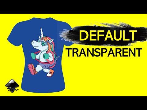 INKSCAPE – Set Default to Export TRANSPARENT – Quick Tutorial