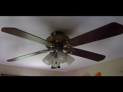Hampton Bay Huntington Iii Ceiling Fan Youtube