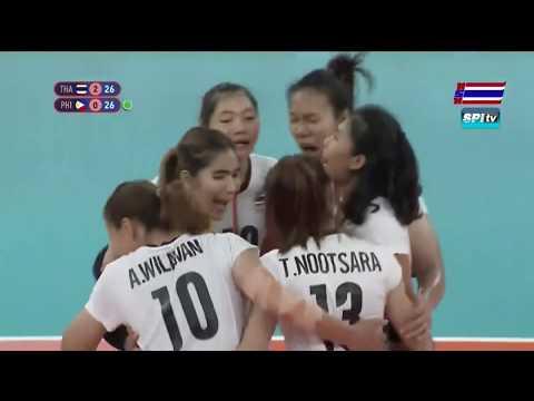 ไฮไลท์ วอลเลย์บอลหญิง ซีเกมส์ ไทย v ฟิลิปปินส์ (เซตที่ 3) 5 ธ.ค. 2019-1