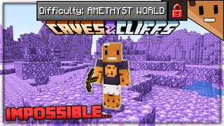 Can You Beat Minecraft in an Amethyst ONLY World?
