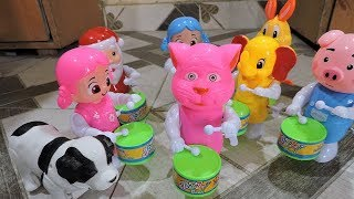 Talking Tom Playing Drum | Kids Learning Color With Talking Tomcat Toys & Talking Tomcat Friends |