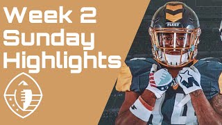 Alliance of American Football : AAF Week 2 Sunday Game Highlights and more