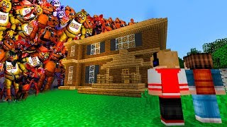TSUNAMI DE ANIMATRONICS DESTRUIU MINHA CASA NO MINECRAFT ! (FIVE NIGHTS AT FREDDY'S)