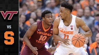 Virginia Tech vs. Syracuse Basketball Highlights (2017-18)