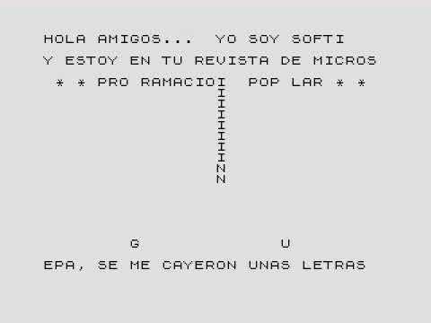 Programación Popular Programa Sorpresa ZX81