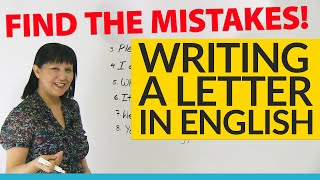 How to write a letter: Find the Mistakes!