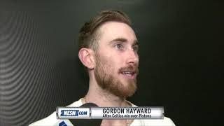 Gordon Hayward reacts to Celtics win over Pistons