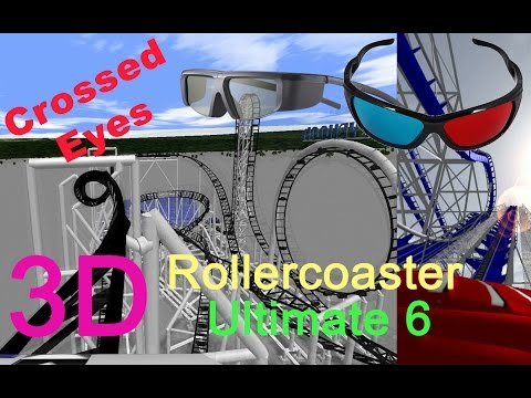 3D Rollercoaster: Ultimate 6 (3D for PC/3D phones/3D TVs/Crossed Eyes)