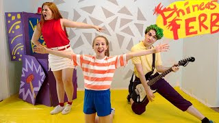 Recreating The Phineas and Ferb Theme Song *In Real Life*