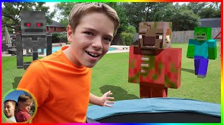 Mob's Escape Minecraft! Minecraft In Real Life!