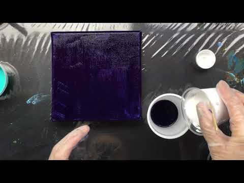 ( 645 ) acrylic pouring with extra thick pouring medium Vallejo