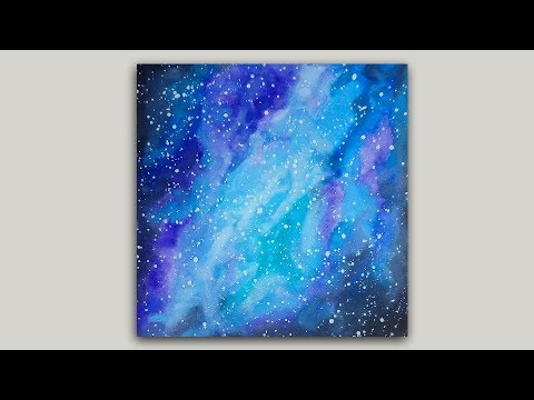 Galaxy Watercolor Painting Miniature 6 x 6 Painting