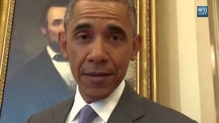 Barack Obama impersonates Frank Underwood from House of Cards .Kevin Spacey