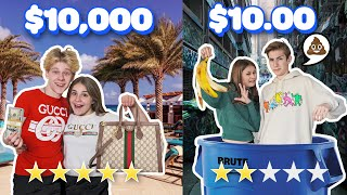 $10 DATE vs $10,000 DATE Couples Challenge w/ my CRUSH **ROMANTIC VACATION** 💵💯| Piper Rockelle