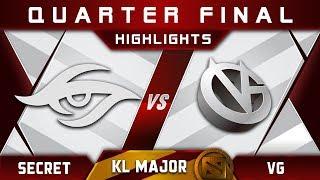 Secret vs VG Quarter Final Kuala Lumpur Major KL Major Highlights Dota 2