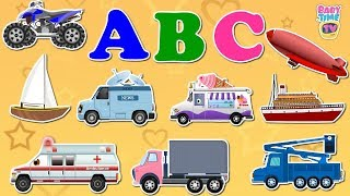 Best Video for Toddler To Learn ABC and Street Vehicles Names - BabyTime TV
