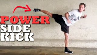 The Most Powerful Kick: Hopping Side Tutorial