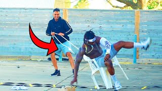 Chair pulling prank part 4 !