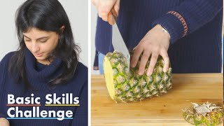 50 People Try to Cut Pineapple Rings | Epicurious