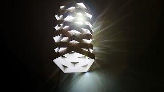Hướng dẫn tự làm đèn treo bằng giấy & đèn Led