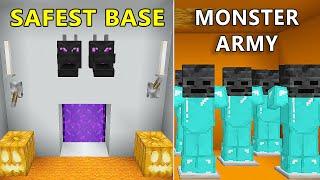 The Most SAFEST Secret Redstone Halloween Base in Minecraft