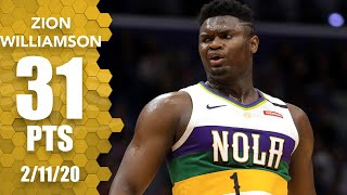 Zion Williamson scores career-high 31 points in Pelicans vs. Trail Blazers | 2019-20 NBA Highlights