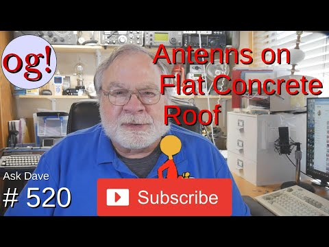 Antenna on Flat Concrete Roof (#520)