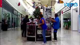 Exclusive footage inside Pabellón Cuauhtémoc mall in Mexico as 7.1 earthquake terrfied shoppers.