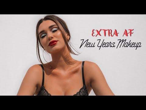 Extra AF New Years/Festive Makeup   Chit Chat GRWM!
