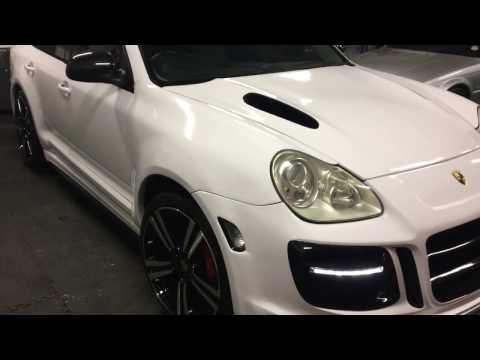 Porsche Cayenne Turbo V8 500Bhp MONSTER wrapped 3m Gloss White