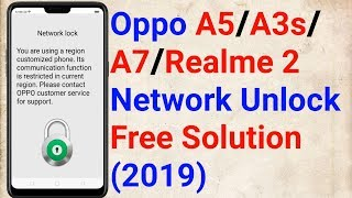Oppo A3s Qualcomm Network Unlock Solution Free Tool - Mobile Treatment