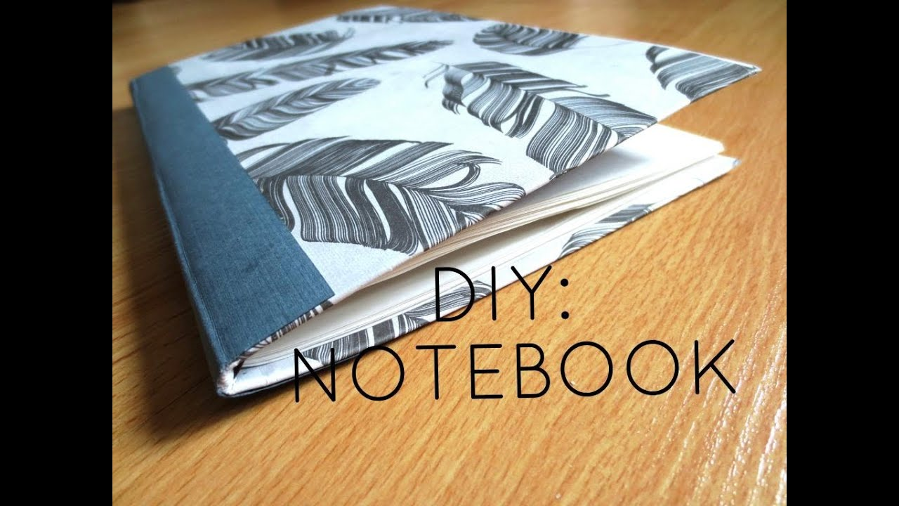 DIY: Custom Notebook from Old Cereal Box - YouTube