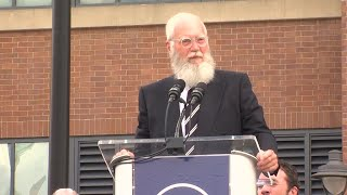 "David Letterman at Peyton Manning statue unveiling: ""Where the hell is my statue?"""