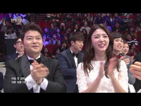 2016 KBS 연예대상 1부 - 축하 공연, 허경환 & I.O.I - Pick Me. 20161224