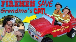 Kid Firemen Save the Day!!