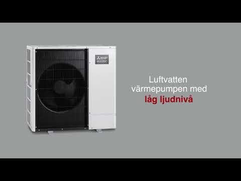 Tyst värmepump - Ecodan luft/vatten