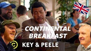 Key & Peele - Continental Breakfast REACTION!! | OFFICE BLOKES REACT!!