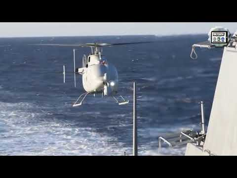 MQ-8C Fire Scout completes check aboard USS Anchorage