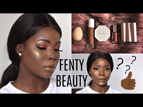 RIHANNA FENTY BEAUTY My First Impressions Full Face + Review For Dark Skin | MsDebDeb