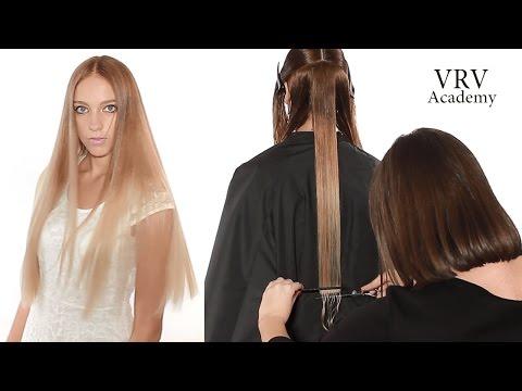 Как подстричь ровную линию ✂ Стрижка одной длины ✂ Стрижка на длинные волосы photo