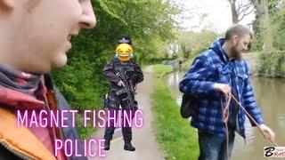 Police &  magnet fishing