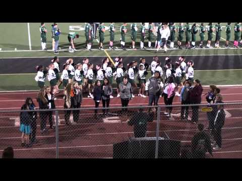 2013-10-25 REU Jazz Choir sings National Anthem