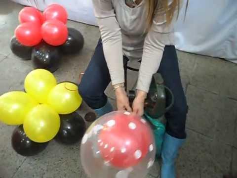 Armado de centro de mesa con estrella metalizada y globos - Llenar globos con helio ...