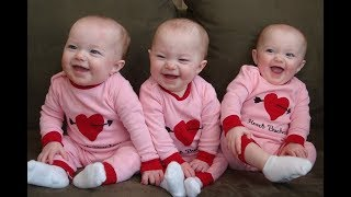 Funny Triplet Babies Laughing Hysterically Compilation