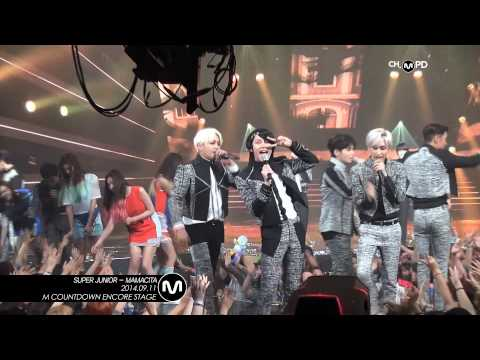 [MPD/직캠] 140911 SUPER JUNIOR- MAMACITA (M countdown no.1 encore)