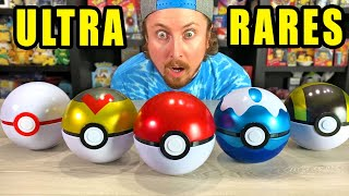Testing Out 6 DIFFERENT Pokeball Tins and *SO MANY ULTRA RARE* Pokemon Cards Were Inside! [opening]