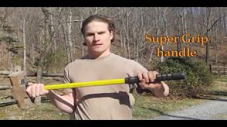 Breaking rock with Nupla 20 pound sledgehammer