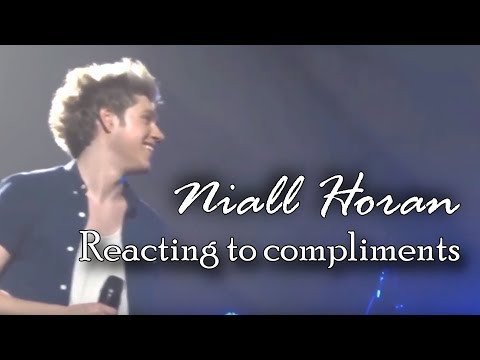 A compilation of Niall Horan reacting to compliments