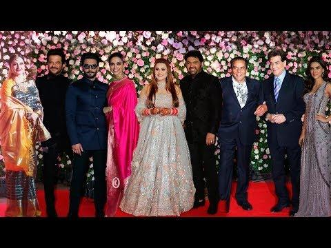 Kapil Sharma Ginni Chatrath Wedding Reception FULL HD Video   Salman Family,Ranveer,Deepika,Rekha