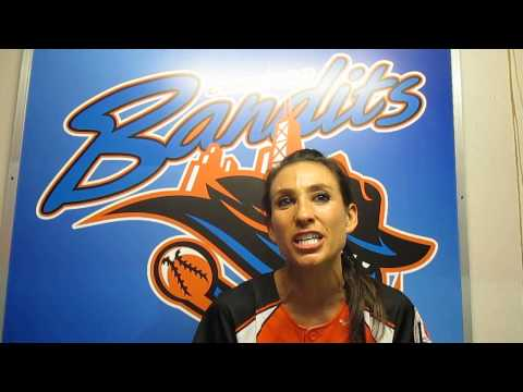 Vicky Galindo after the Bandits beat the Comets, 2-0
